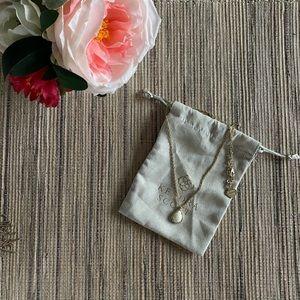 💘 Kendra Scott Kiri Necklace in White Pearl &Gold